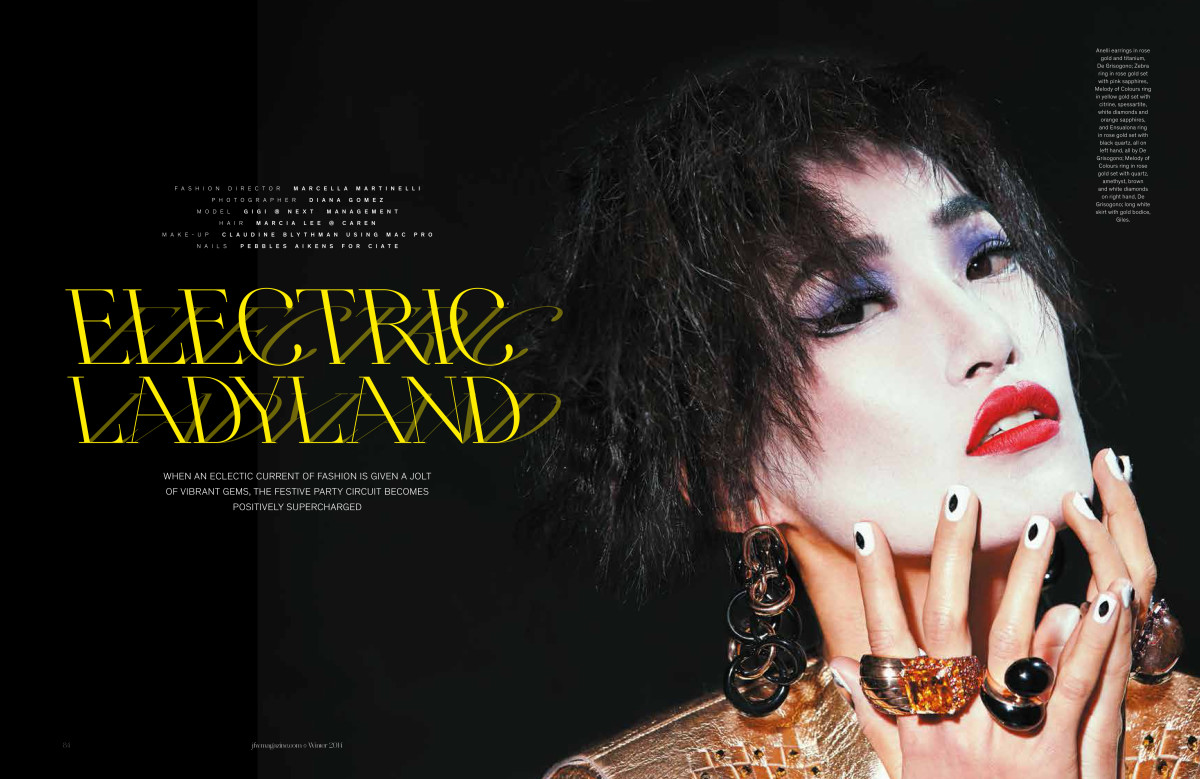 Jewelry Fashion Watches Magazine, The Magic Issue, Gigi Jeon, Polka Dots, Dots Makeup, Philip Treacy, Mac Pro Cosmetics