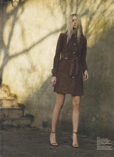 Nastya Kusakina by Liam Warwick, Wonderland Magazine,Mac cosmetics, Gucci,