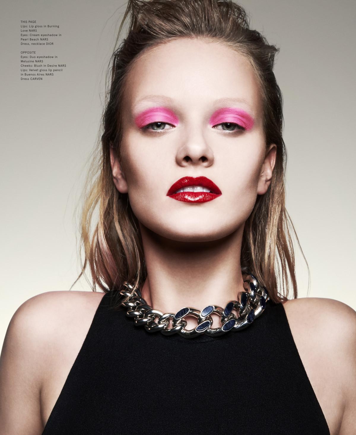 Volt Magazine, Lip Gloss, Burgendy Lips, Pink Eyeshadow, Grunge, Vivien Wysocki, Nars