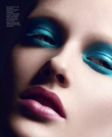 Volt Magazine, Pink Lips, Blue Eyeshadow, Grunge Makeup, Vivien Wysocki, Nars