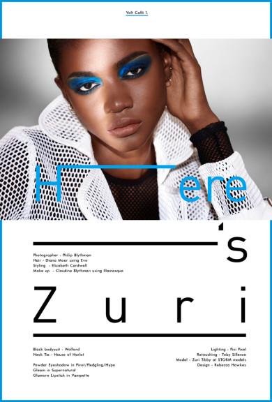 Zuri Tibby by Philip Blythman, Volt Cafe, Illamasqua, Storm Models, Beauty story, Black model, Black beauty, Shadow b