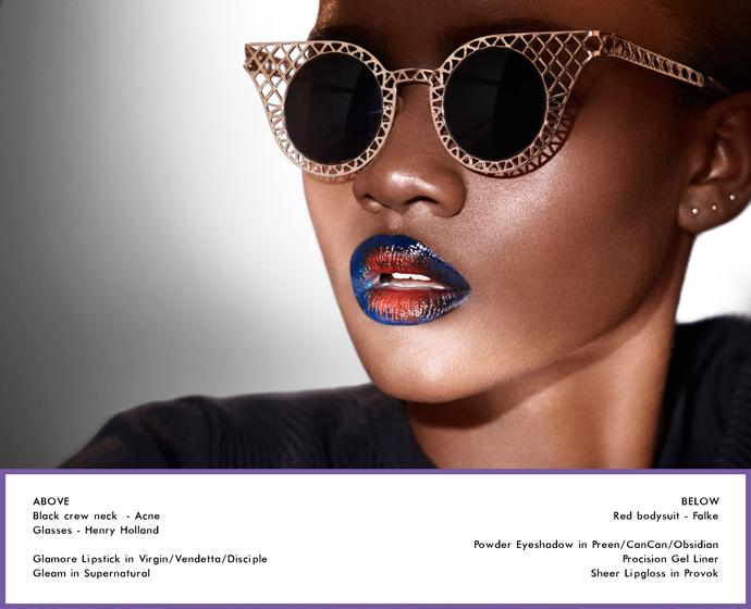 Zuri Tibby by Philip Blythman, Volt Cafe, Illamasqua, Storm Models, Beauty story, Black model, Black beauty, Shadow beauty,