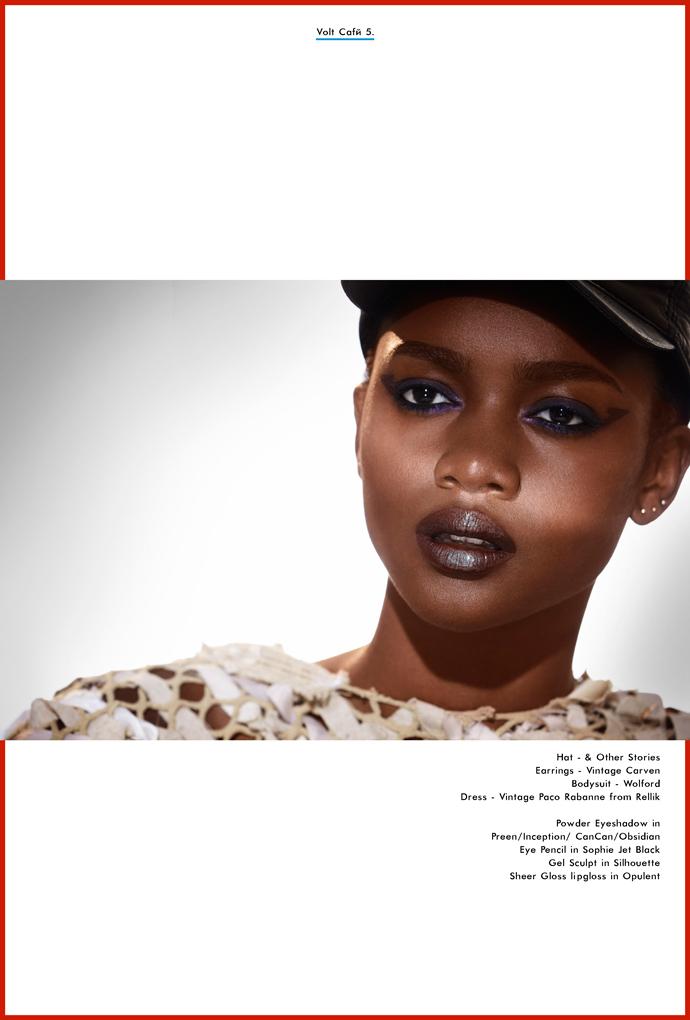 Zuri Tibby by Philip Blythman, Volt Cafe, Illamasqua, Storm Models, Beauty story, Black model, Black beauty, Shadow beauty
