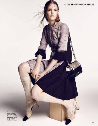 Grazia Big Fashion Issue, Chanel Le Lift and Le Volume Ultra-Noir, Louis Christopher, Magdalena Langrova, Manon Valentin
