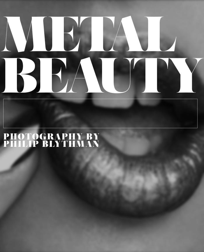 Philip Blythman, Wylde Magazine, Metal Beauty, Silver Eyeshadow, Metallic Nails, 90's Grunge