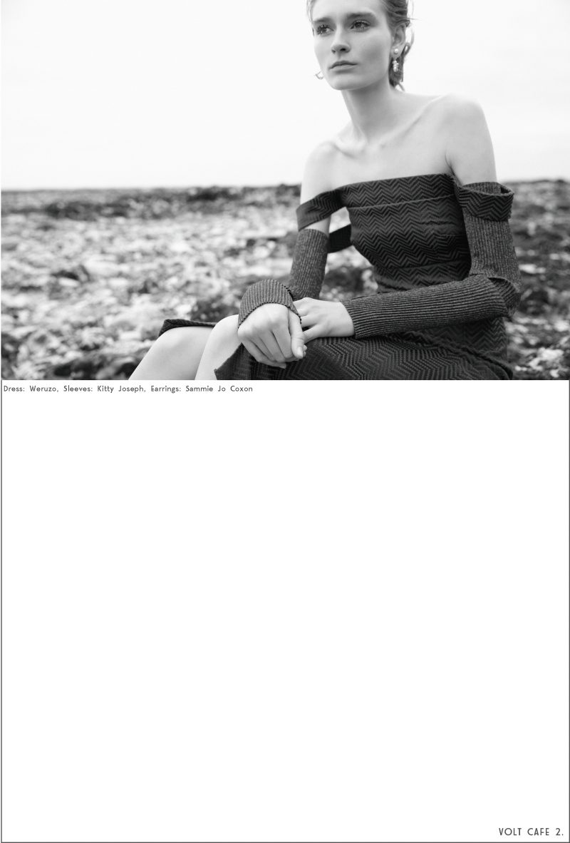 Botany Bay by Philip Blythman, Volt Cafe, Kent , 2 models,Elena Zinchenko, Tassja Rugenstein, Bare face chic, Mascara Only, Clumpy Mascara, Freckles, Black and White Photographs, Beach, Kent,