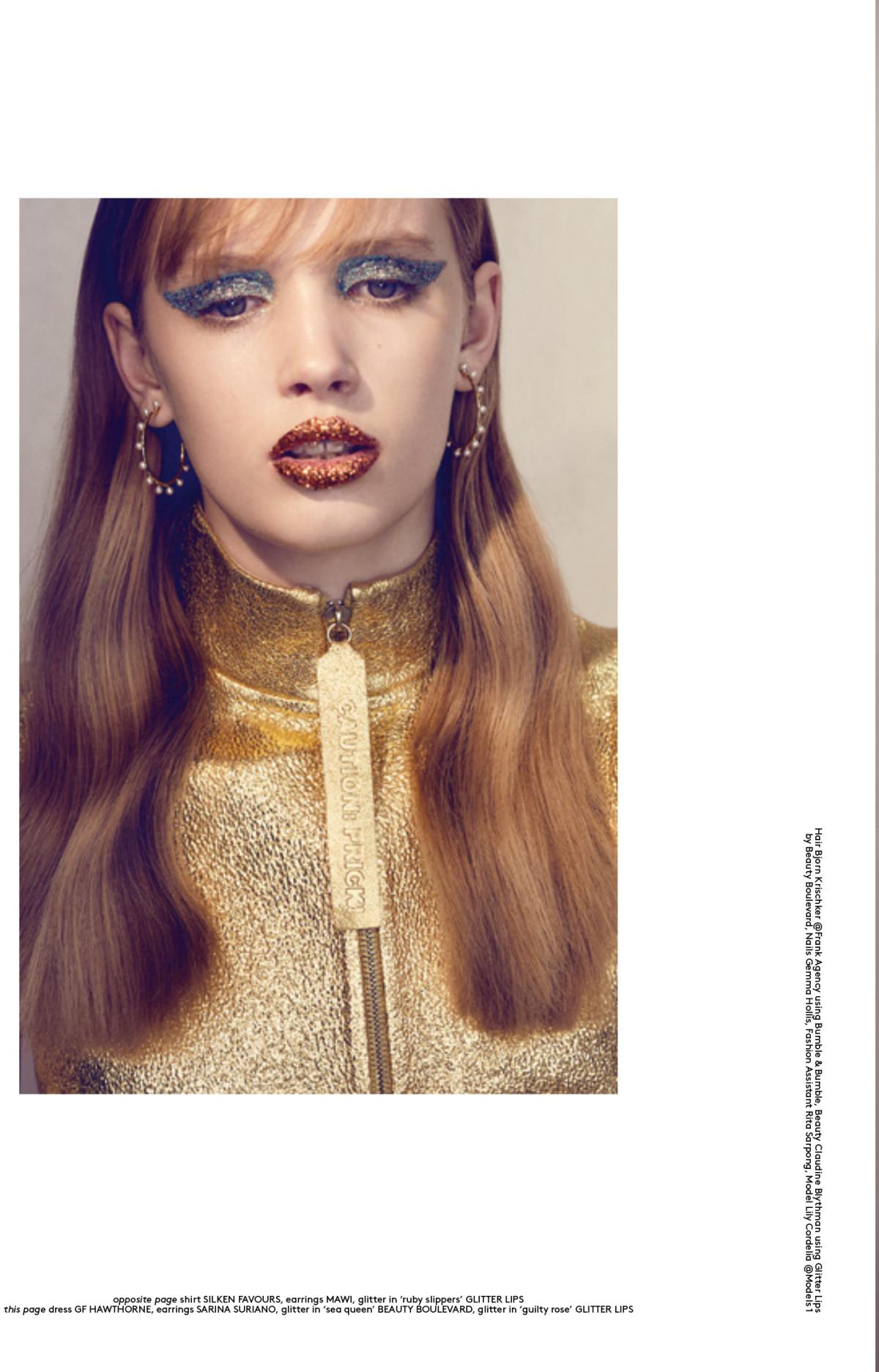 Glitter story, Claudine Blythman Makeup, Beauty story, glitter eyes, glitter lips, festival glitter, notion by Philip Blythman, Rhona ezuma, lily garret , Bjorn krischker, Glitter lips by beauty boulevard