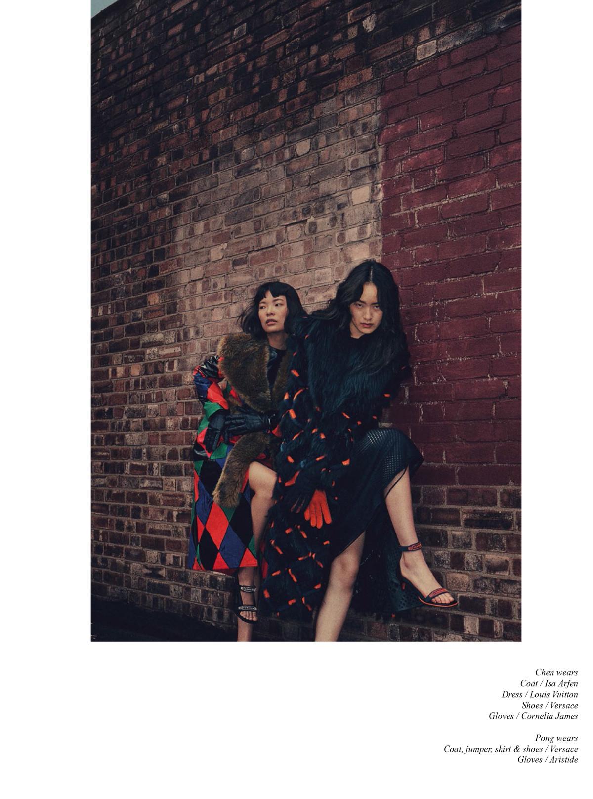 schon, Elizabeth Mews,Marie Schuller, Chen Xue, Pong Lee, Rainy london Shoot,Claudine Blythman Makeup, Sofia Sjoo, Kristofi Von Strass, Chinese Models, Brown Cheeks, Earthy Makeup, London,Schon Magazine,